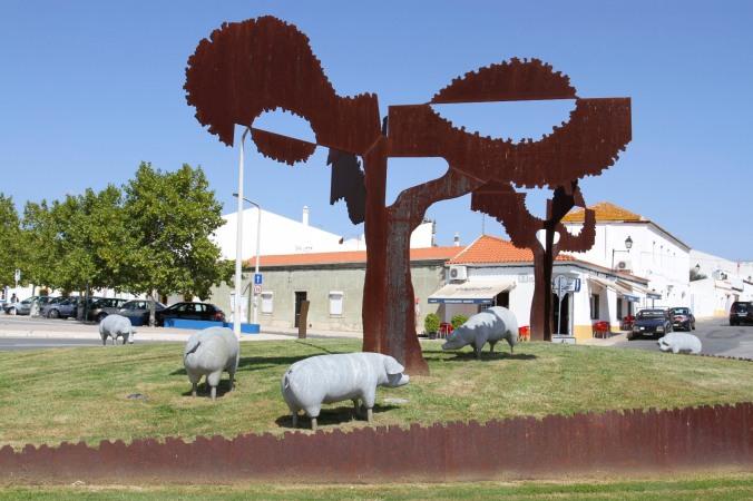 Pig roundabout, Castro Verde, Portugal Verde, Portugal