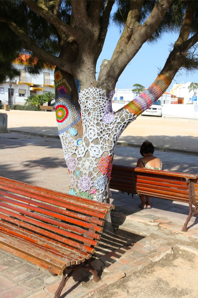 Yarn bombing in Sagres, Partugal