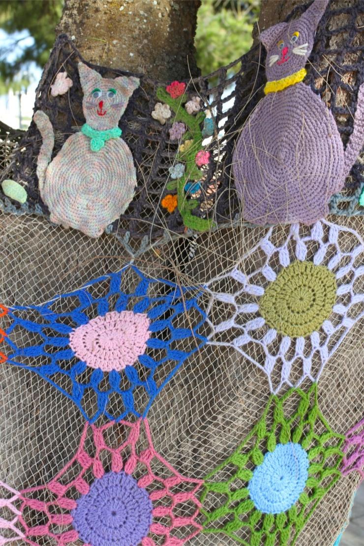 Yarn bombing in Sagres, Partugal