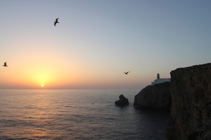 Sunset at Cabo de Sao Verde, Algarve, Portugal