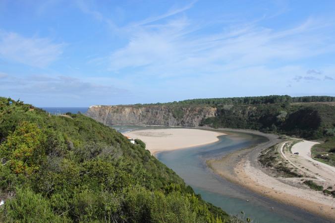 Rio de Seixe at Praia de Odeceixe, Algarve, Portugal