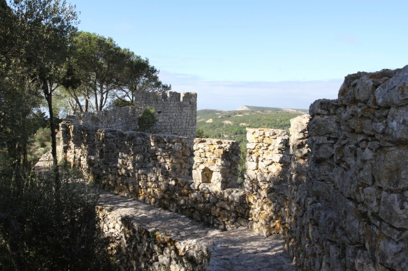 Fort overlooking Sesimbra, Portugal