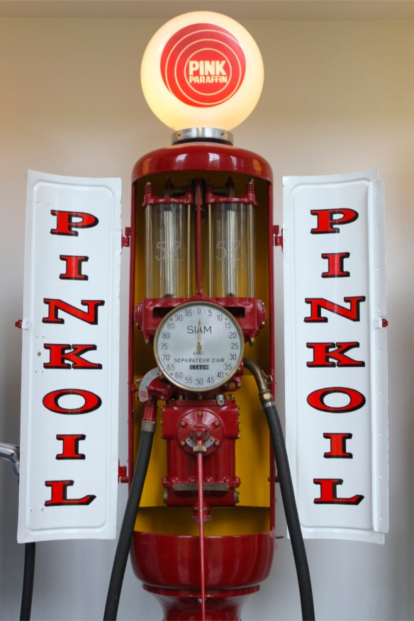 Petrol pumps, Louwman Museum, The Hague, Netherlands