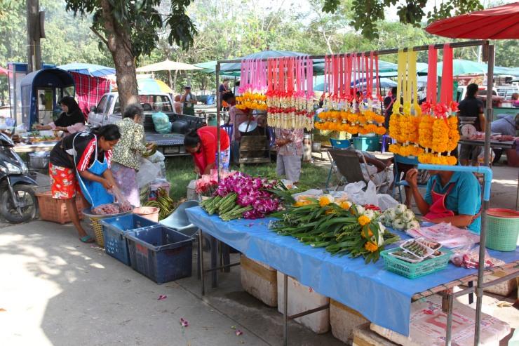 Temple flowers, Bangkok, Thailand