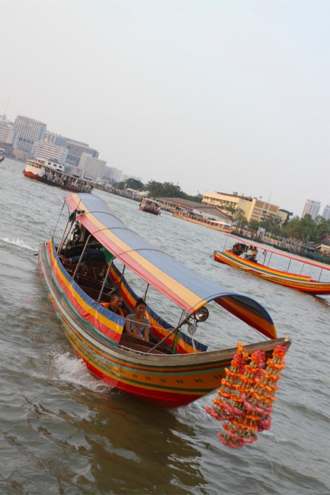 Boats on the Chao Phraya river, Bangkok, Thailand