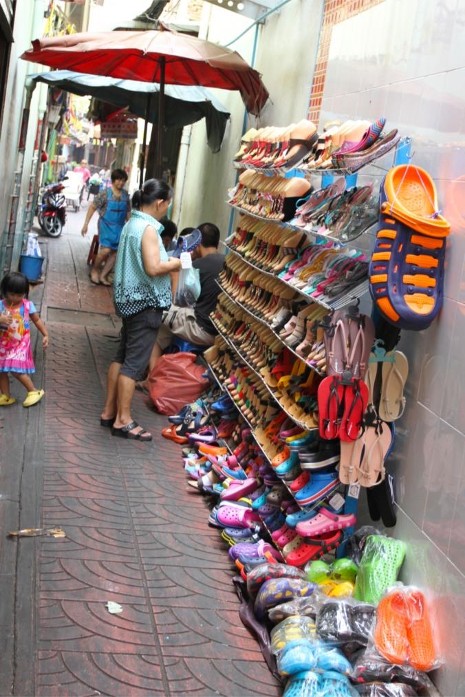 Shoes in China Town, Bangkok, Thailand