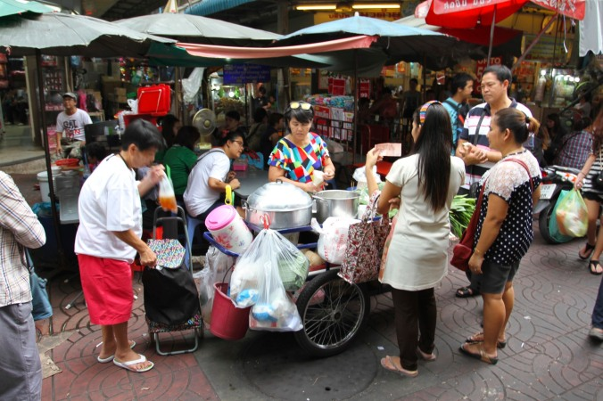 Street stall in China Town, Bangkok, Thailand