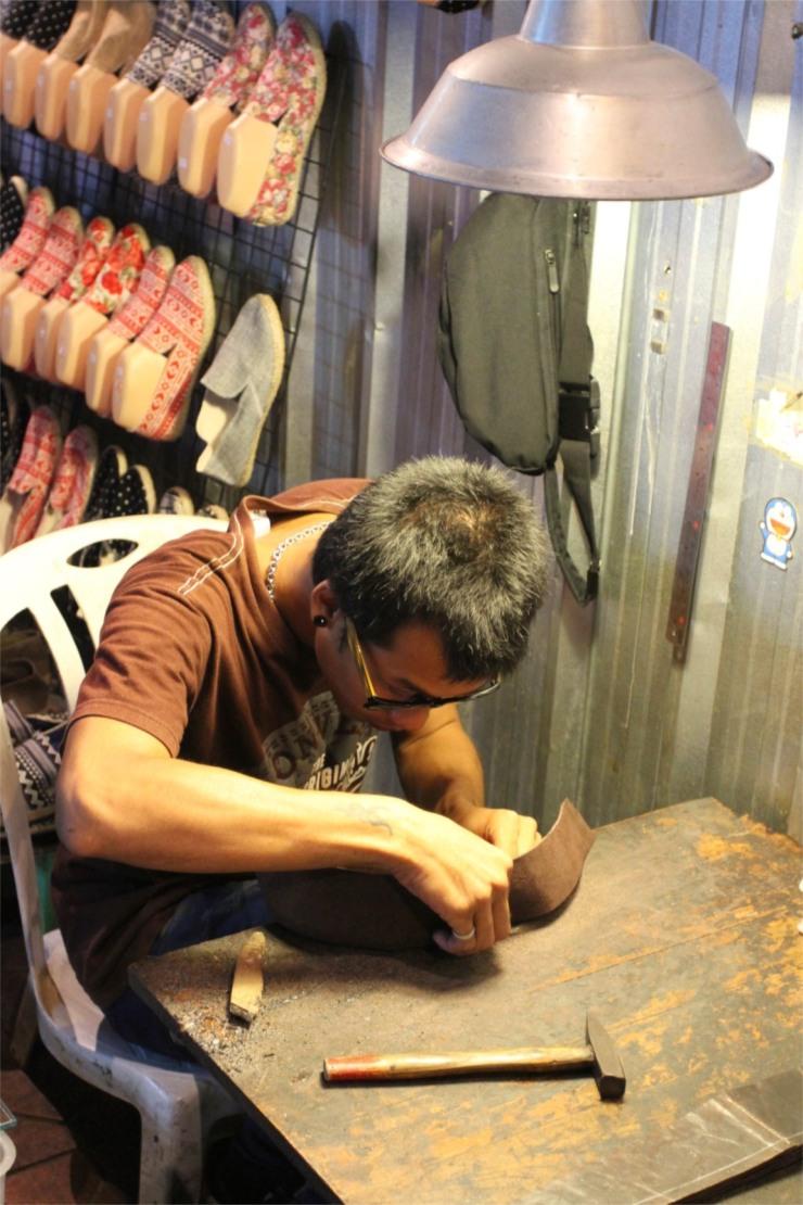 Shoe repairs, Bangkok, Thailand