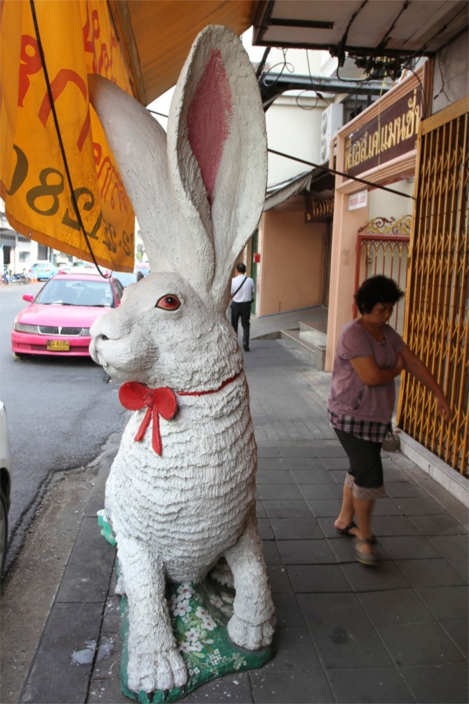 Giant rabbit on the street, Bangkok, Thailand
