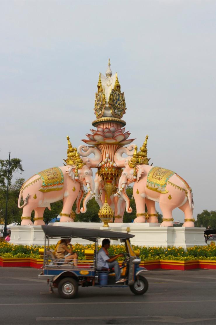 Elephant roundabout, Bangkok, Thailand