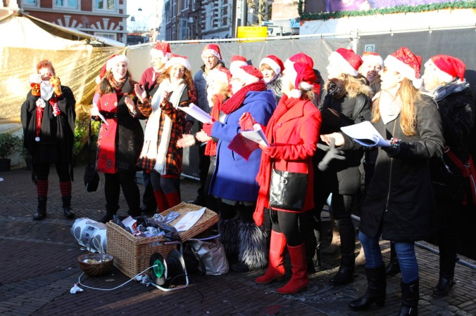 Choir at Haarlem Christmas Market, Netherlands