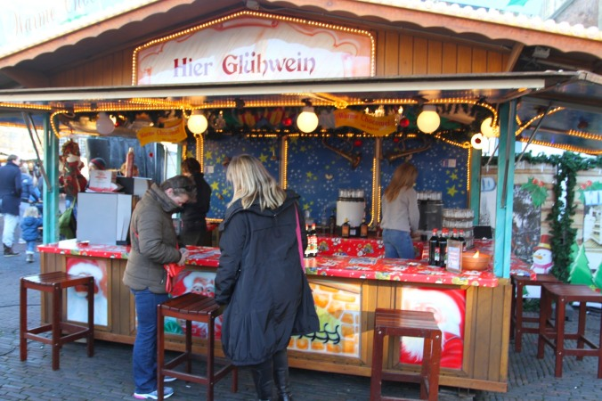 Mulled wine stall at Haarlem Christmas Market, Netherlands