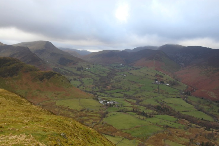 Newlands Valley from Skelgill Bank, Lake District, Cumbria