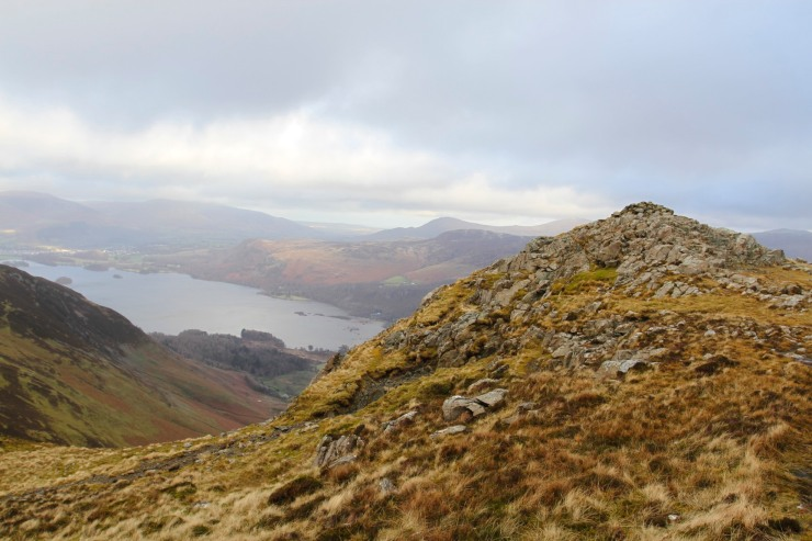 Derwent Water from Blea Crag, Lake District, Cumbria