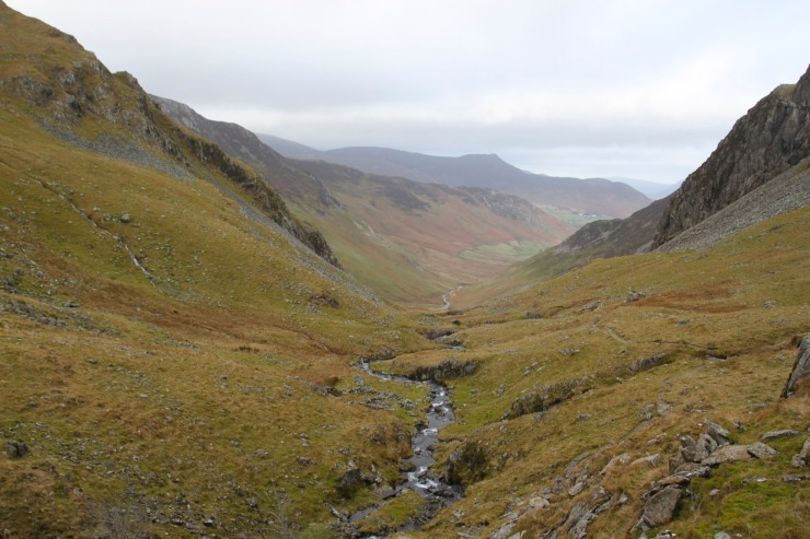 The view down Newlands Valley, Lake District, Cumbria