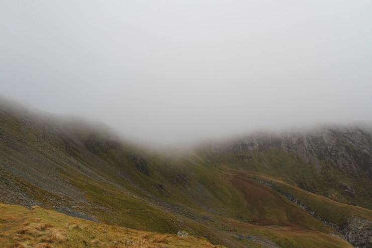 Cloud covers Dale Head, Lake District, Cumbria