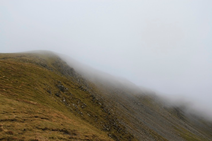 Cloud covers Dale Head, Lake District, Cumbria