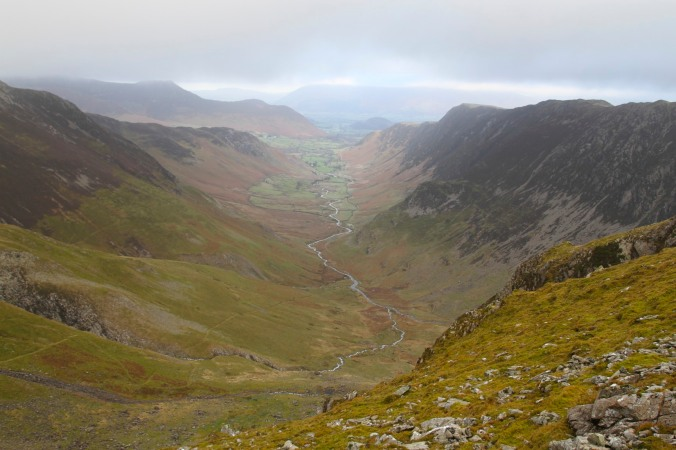 Descending into Newlands Valley, Lake District, Cumbria