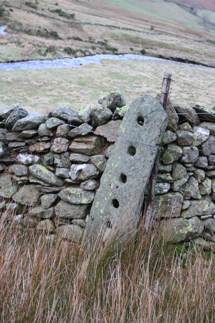 Old farm gate post, Newlands Valley, Lake District, Cumbria