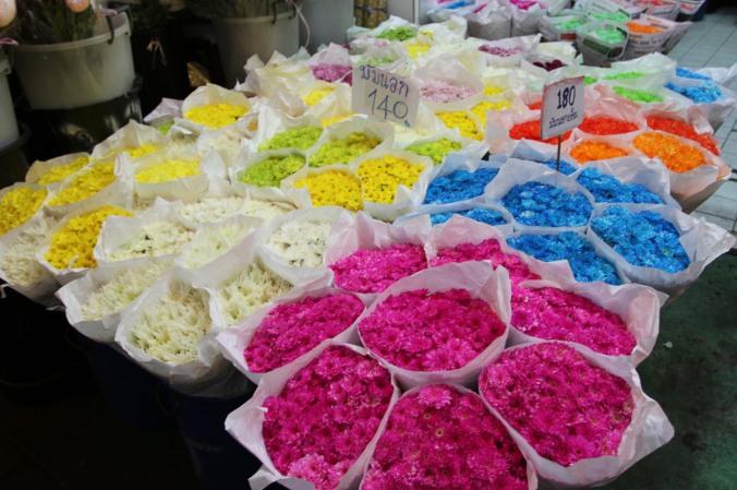 Pak Khlong Talat, Night Flower Market, Bangkok, Thailand