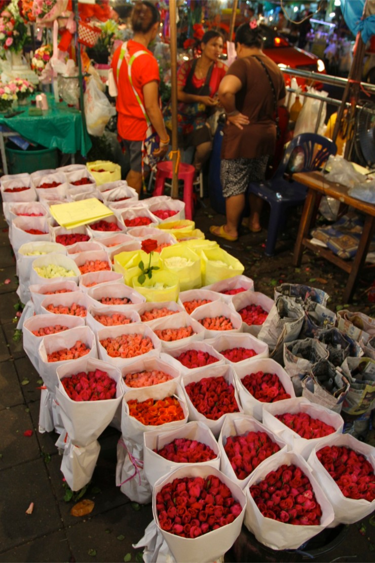 Pak Khlong Talat, Night Flower Market, Bangkok, Thailand