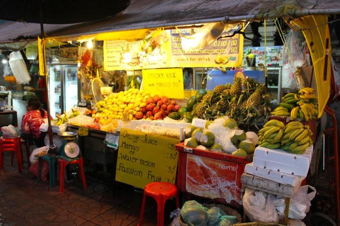 Fruit stall, Khao San, Bangkok, Thailand