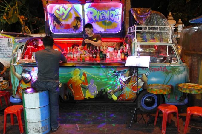 Street bar, Khao San, Bangkok, Thailand