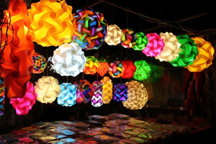 Lights, Khao San, Bangkok, Thailand