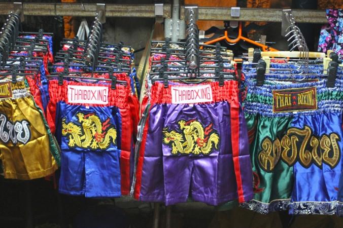 Thai boxing shorts, Khao San, Bangkok, Thailand