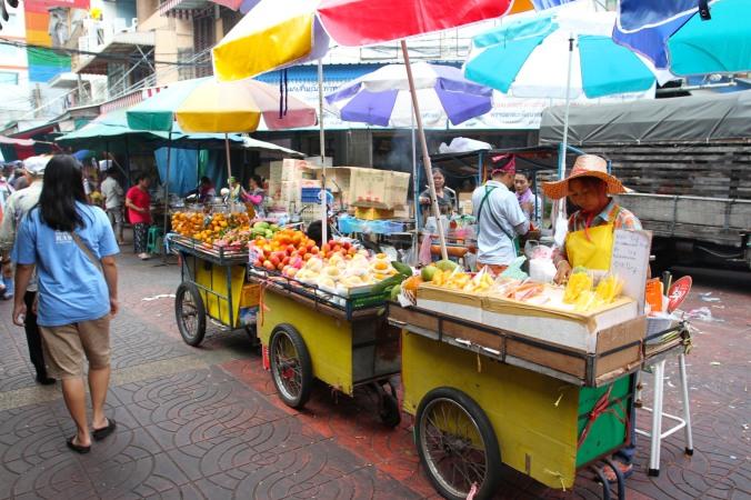 Fruit juice stall, Chinatown, Bangkok, Thailand