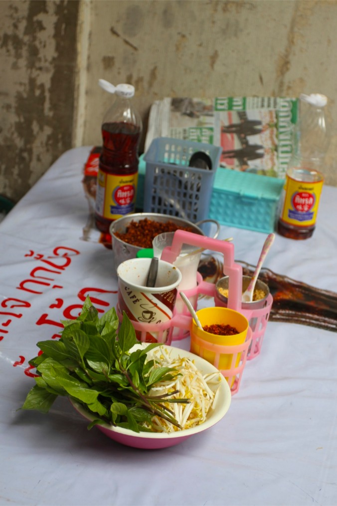 Cafe table, Chinatown, Bangkok, Thailand