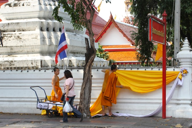 Buddhist monks, Bangkok, Thailand