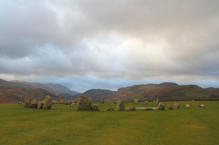 Castlerigg Stone Circle with views to the south, Keswick, Lake District, Cumbria
