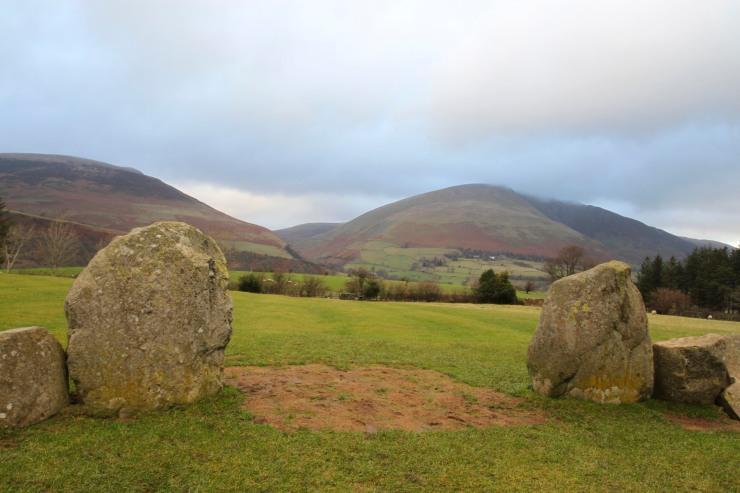 Entrance stones, Castlerigg Stone Circle, Keswick, Lake District, Cumbria