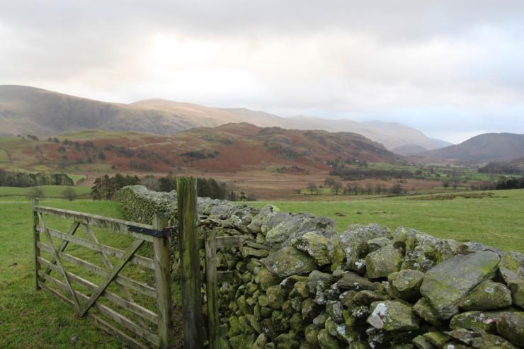 Views south from Castlerigg Stone Circle, Keswick, Lake District, Cumbria