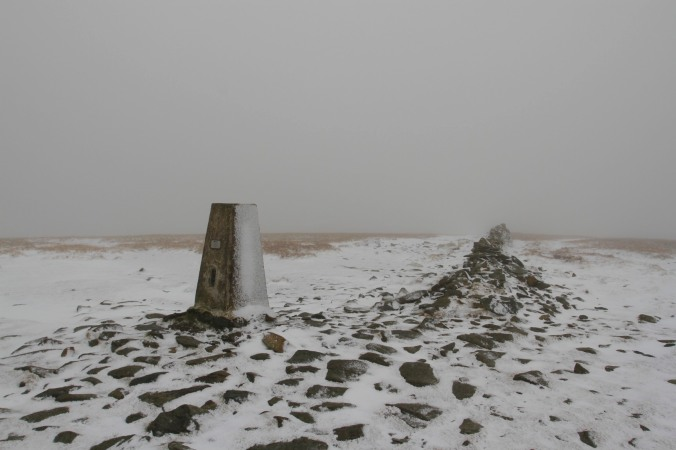 Trig Point on High Street, Lake District, Cumbria