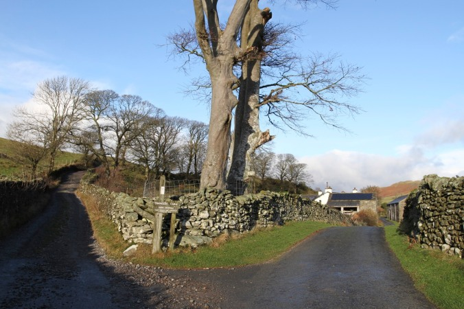 Track to Swinside Stone Circle, Lake District, Cumbria