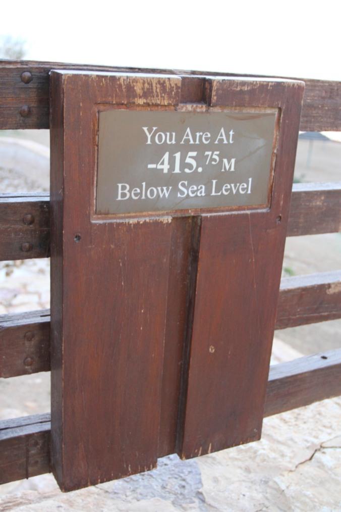 Below sea level, Dead Sea, Jordan