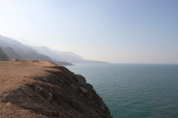 Early morning on the shores of the Dead Sea, Jordan, Middle East
