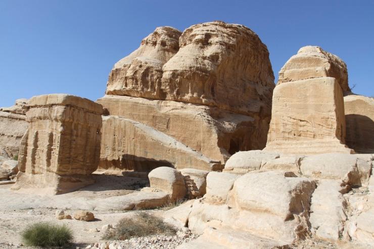 Djinn (a type of spirit) blocks, Petra, Jordan