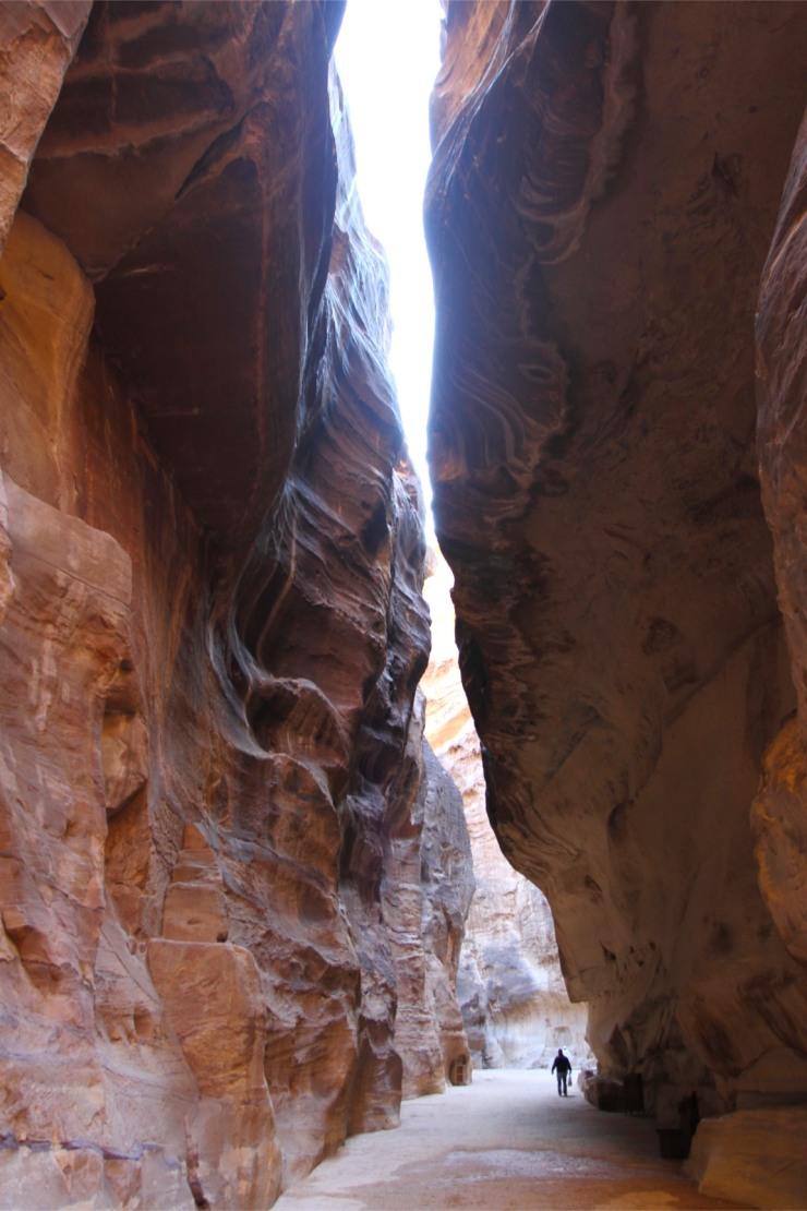 The Siq canyon, Petra, Jordan