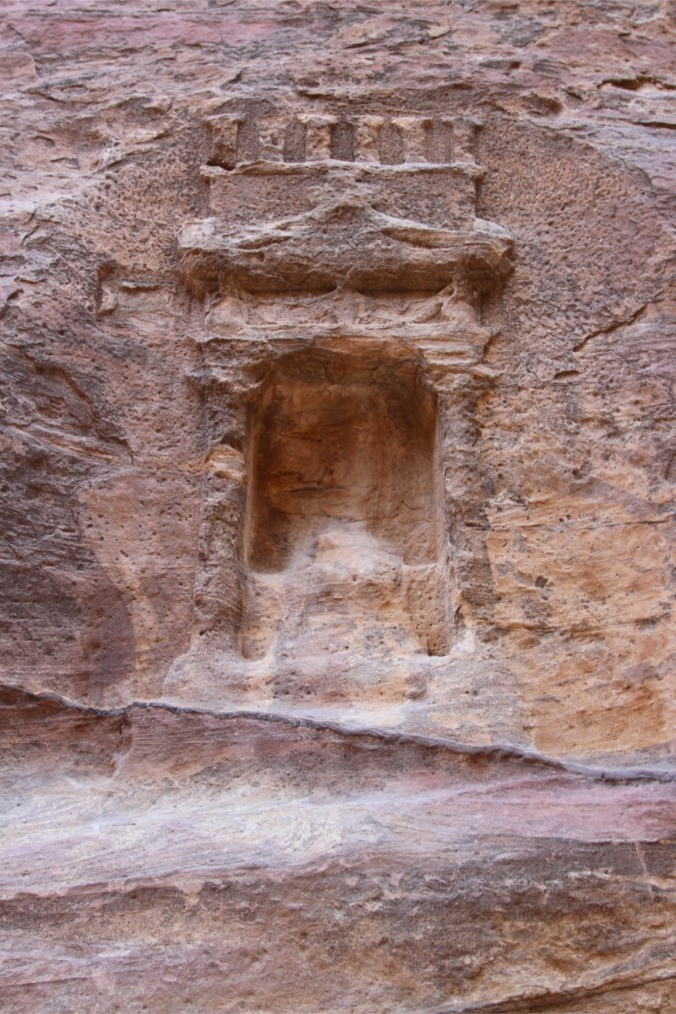 Shrine in the Siq canyon, Petra, Jordan