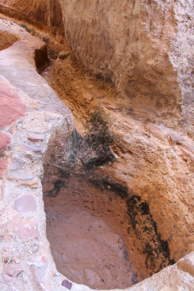 Sophisticated water system in the Siq canyon, Petra, Jordan