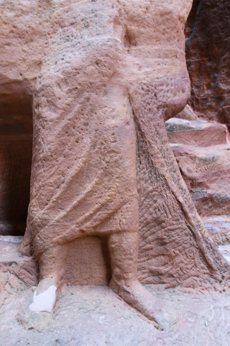 Part of a carving of a camel train, Siq canyon, Petra, Jordan