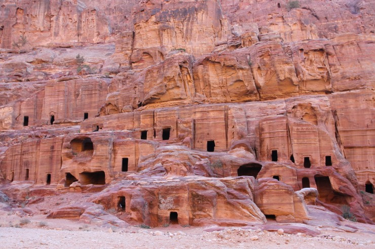 Nabataean tombs, Petra, Jordan