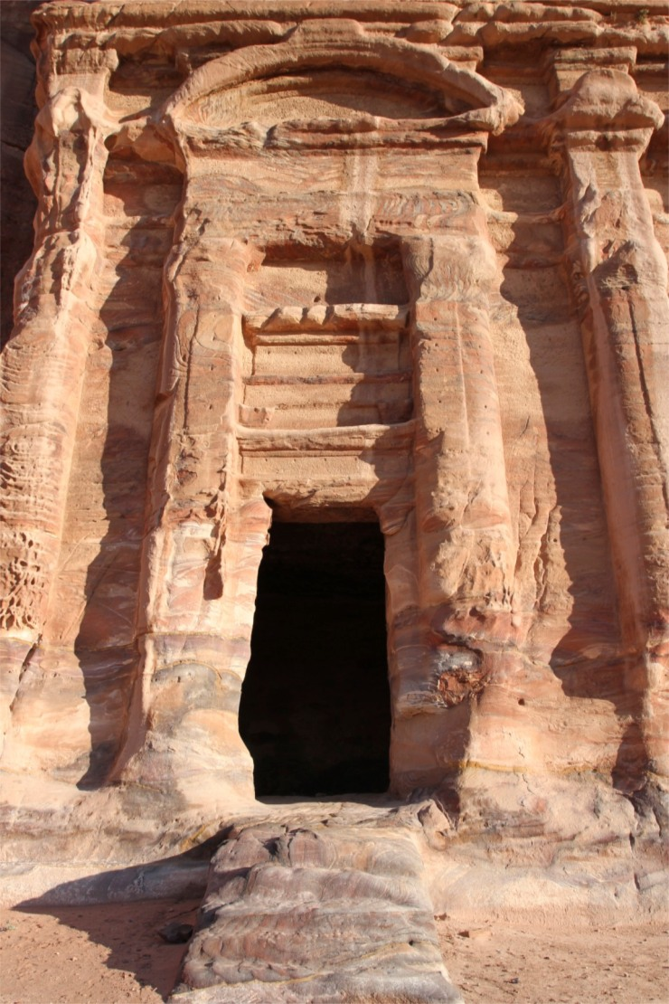 Entrance to Royal Tomb, Petra, Jordan