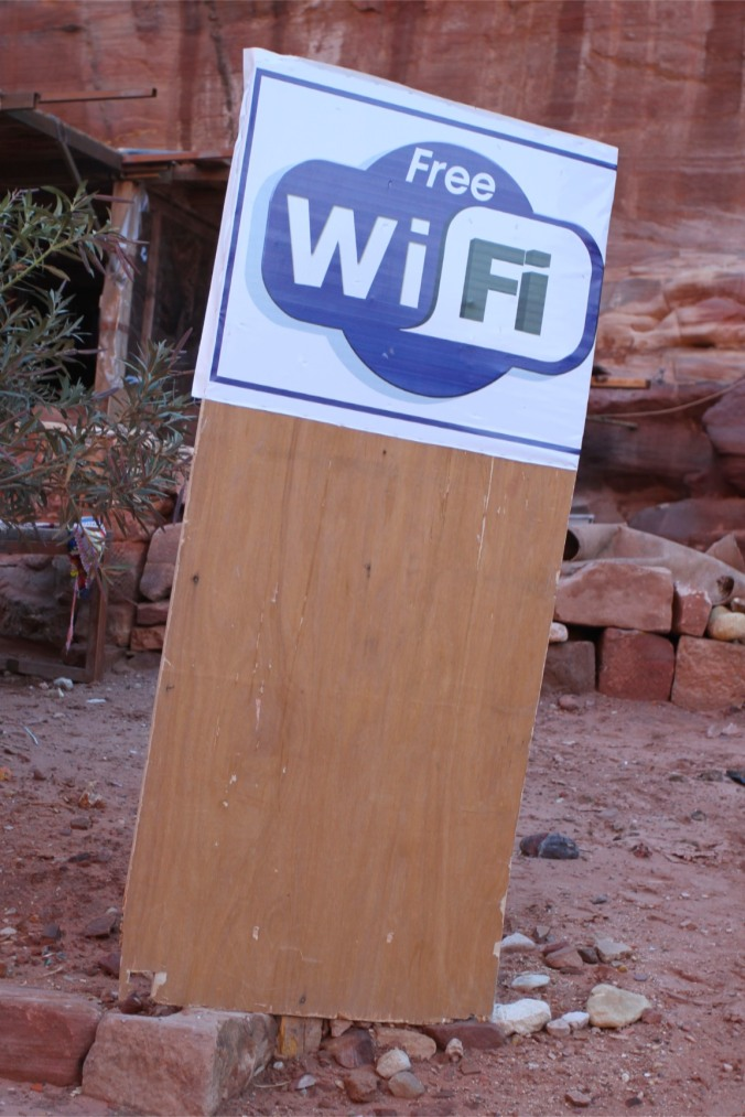 Sign of the times, Petra, Jordan