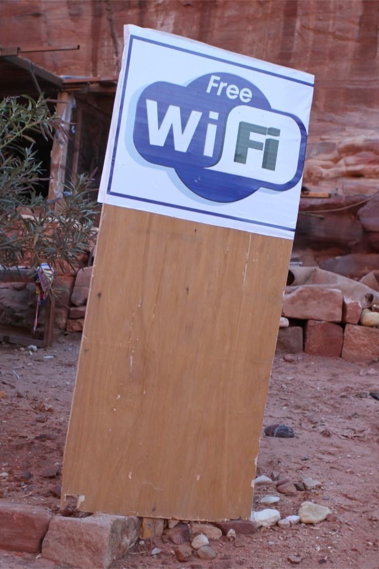 Sign of the times, Petra, Jordan