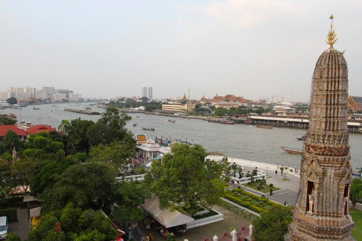 Views over Bangkok, Wat Arun, Bangkok, Thailand