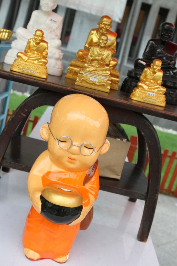 Minature Monk, Wat Traimit, Bangkok, Thailand
